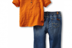 7 For All Mankind Baby-boys Newborn Polo/Jean Set