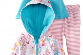 Zutano Baby-Girls Newborn Summer Dream Hoodie with Swing Tee and Legging Set