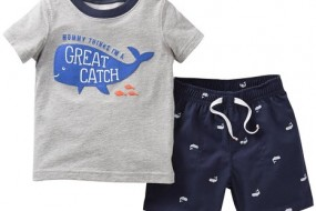 Carters Baby Boy Daddy's First Mate Short Set