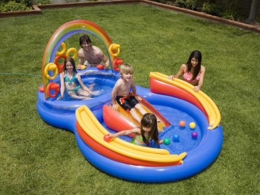 Intex 117-by-76-by-53-Inch Rainbow Ring Pool Play Center