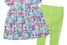 Zutano Baby-Girls Newborn Dizzy Daisy Short Sleeve Dress and Legging Set