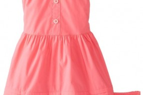 Nautica Baby-Girls Infant Solid Poplin Sundress