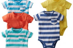 Carters 5-Piece Bright Stripes w/Pocket