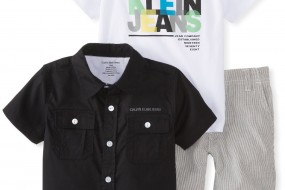 Calvin Klein Baby-Boys Infant Shirt with Tee and Short