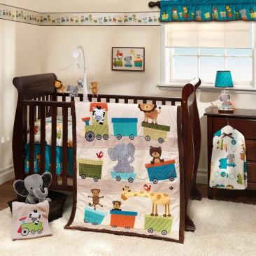 Bedtime Originals 3 Piece Crib Bedding Set, Choo Choo