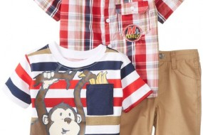 Little Rebels Baby-Boys Infant 3 Piece Monkey Short Set