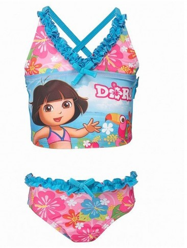 Dora Girls 2-Piece Criss Cross Tankini Swimsuit – UPF 50+