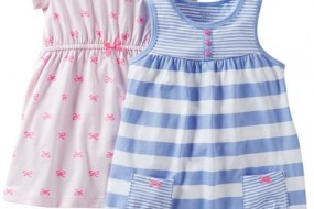 Carter's Baby Girls' 2 Piece Dress and Romper Set (Baby)