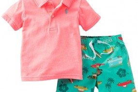 Carters Boys Baby Aloha Polo & Short Set