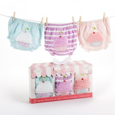 Baby Aspen 3 Count Cupcake Bloomers Gift Set