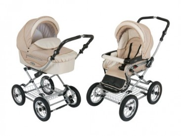 Roan Kortina Classic Pram Stroller 2-in-1 with Bassinet and Seat