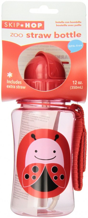 Back to School with Skip Hop Zoo Straw Bottle { Ladybug, 12 Ounce }