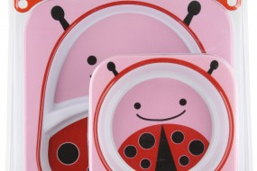 Skip Hop Zoo Melamine Plate and Bowl Set { Lady Bug }