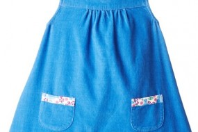 JoJo Maman Bebe Baby-Girls Blue Play Dress