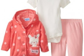 BON BEBE Baby-Girls Newborn Sweet Hooded Jacket and Pant Set