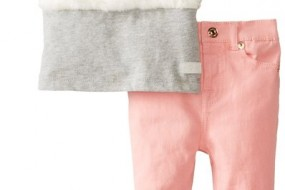 * Seven for All Mankind * Baby-Girls Infant Skinny with Plush Fur Top