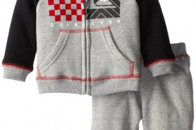 * Quiksilver * set for classy baby boys , hoody and pants