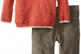 cK baby boys brown sweater and jeans