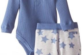 cK Baby Boys Newborn Blue Bodysuit with Pants