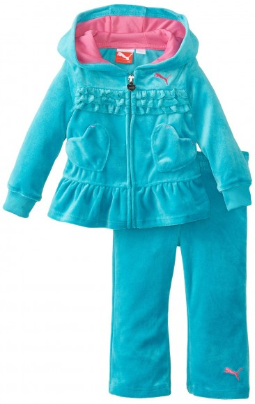 PUMA tracksuit Ruffle and Heart for Little Girls