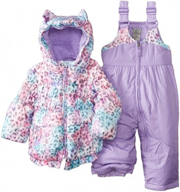 Zero Xposur Baby Girls – Infant Snowsuit Purple Set