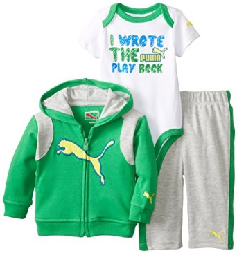 PUMA Baby Boy 3 pcs Set with Jacked in green