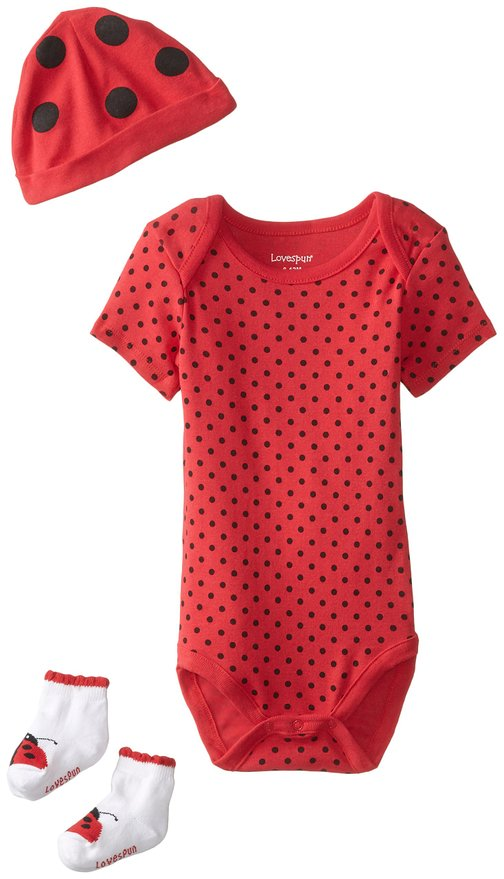 Lady Bug cute 3 piece set for Newborn baby girls