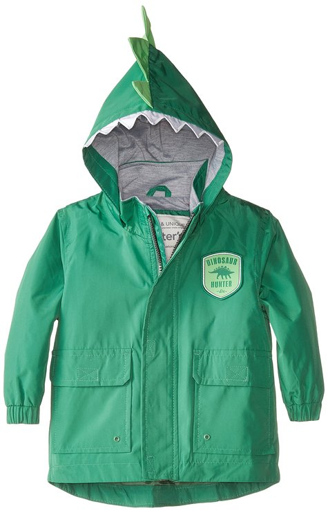 * Carter's * Baby Boys lightweight green hooded jacked