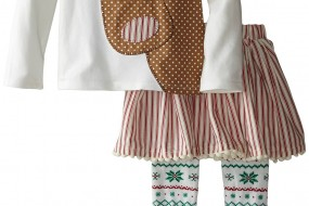 Mud Pie *** Cute Skirt Christmas set for Little Girls