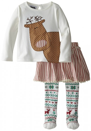 Mud Pie *** Cute Skirt Christmas set for Little Girls