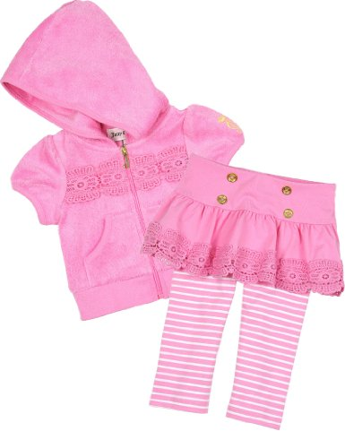 Juicy Couture Baby Hoodie and Leggings with Skirt