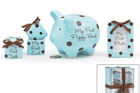 Baby Boy 4pcs Cute Gift Set * Piggy *