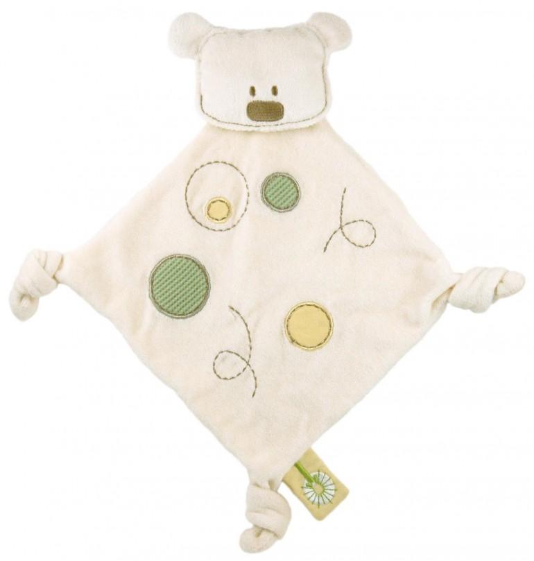 Dandelion Classic Organic Soft Velour Bear blanket