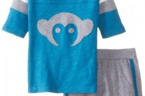Appaman Baby-Boys Newborn Hockey Jersey and Track Short Set