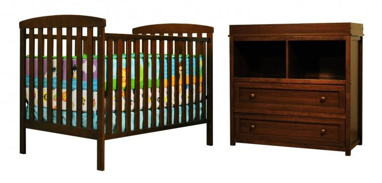 Athena Leila 2 Piece Nursery Set, Espresso
