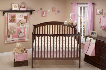 Little Bedding Dreamland Teddy Girl Crib Bedding Set