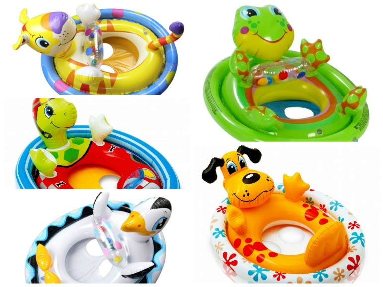 Sit Pool Ride with cute animal design