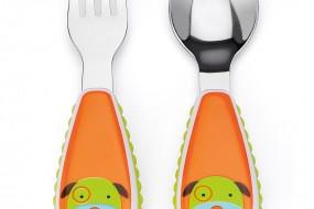 Skip Hop ZOO Fork and Spoon { Dog }