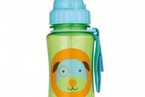 Skip Hop Zoo Straw Bottle { Dog, 12 Ounce }
