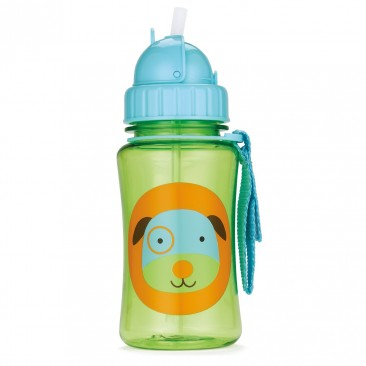 Skip Hop Zoo Straw Bottle { Dog, 12 Ounce }