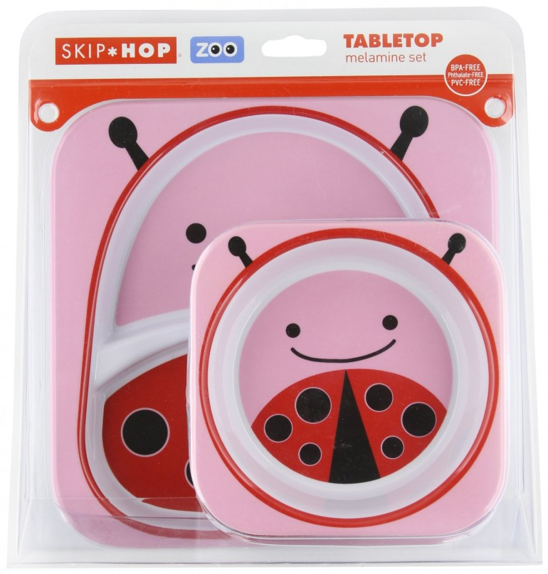 bc2b02d1d5bb Skip Hop Zoo Melamine Plate and Bowl Set { Lady Bug } | Baby Life ...