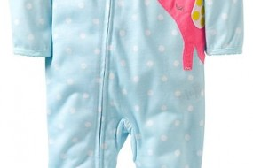 Carter's One dot printed Footie for Baby Girls