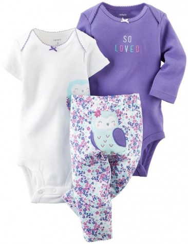 Carter's Baby Girls 3 Piece Owl * Take me away *