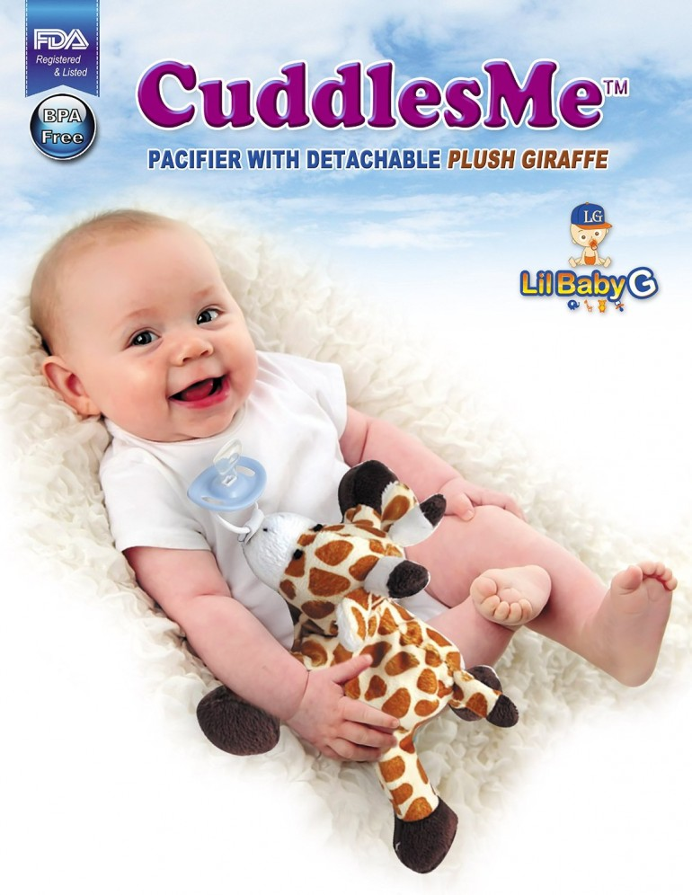 Giraffe plush toy for pacifier, FDA Listed Medical Device