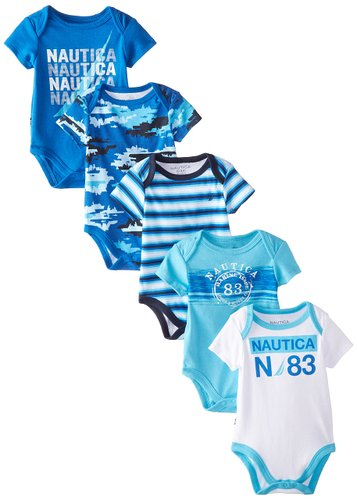 Five Pack Baby Boys Bodysuit From Nautica