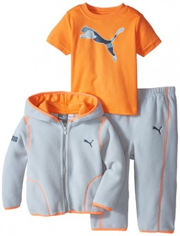 Little Boys Microfleece 3 Pieces Set – Sweatshirt / T-shirt / Bottom – Puma