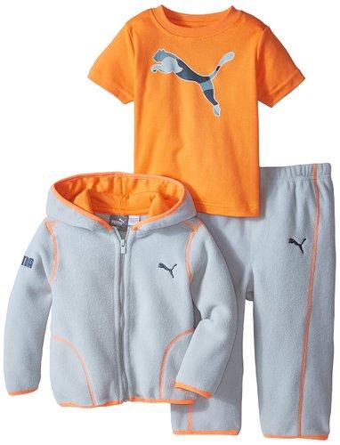 Little Boys Microfleece 3 Pieces Set – Sweatshirt / T-shirt / Bottom – Puma