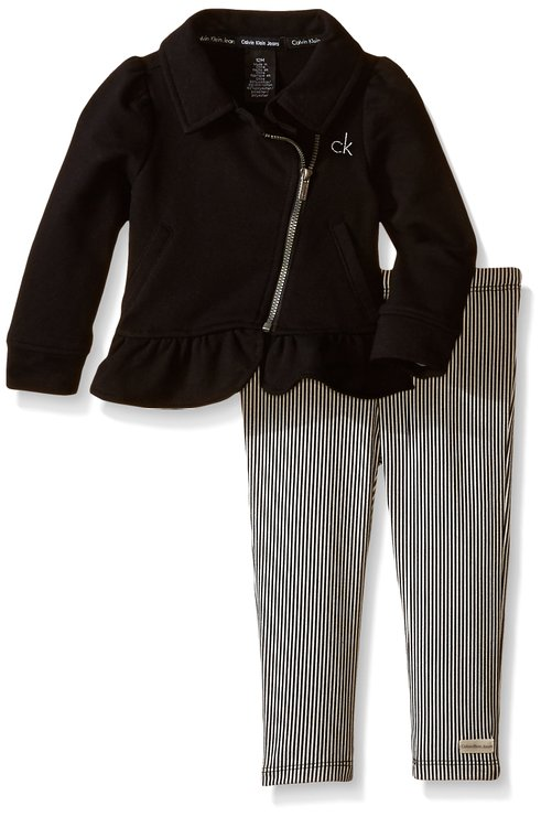 * Calvin Klein * Baby-Girls cute Jacked & pants set